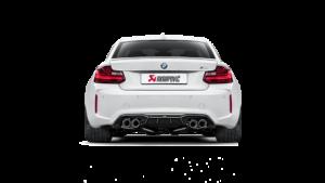 Posteriore BMW M2 con scarico Akrapovic