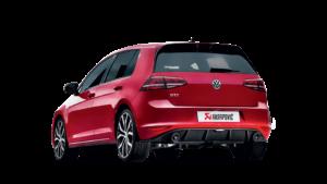 Posteriore VW Golf con scarico Akrapovic
