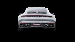 Posteriore Porsche 911 con scarico Akrapovic
